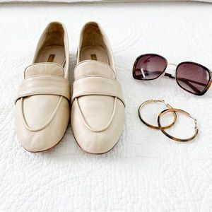 Louise eat Cie Leather Cream Loafers Size 8M